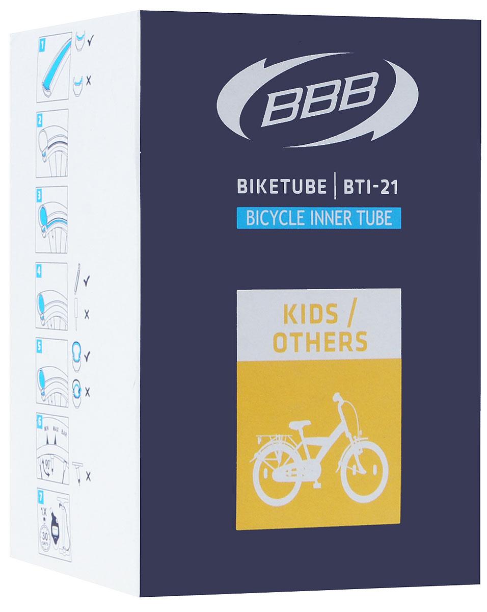 Камера велосипедная BBB, 20, 1,75-2,125 AVХ68714-5Камера BBB изготовлена из долговечного резинового компаунда. Никаких швов, которые могут пропускать воздух. Достаточно большая для защиты от проколов и достаточно небольшая для снижения веса. Велосипедные камеры - обязательный атрибут каждого велосипедиста! Никогда не выезжайте из дома на велосипеде, не взяв с собой запасную велосипедную шину!Диаметр колеса: 20.Допустимый размер сечения покрышки: 1,75-2,125.Автомобильный ниппель (Shrader): 33 мм.Толщина стенки: 0,87 мм.