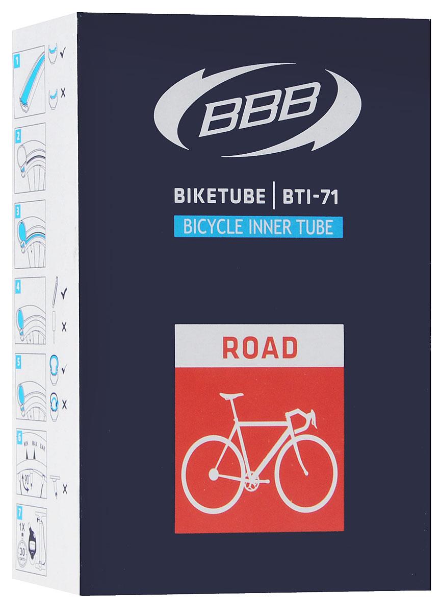Камера велосипедная BBB, 28, 18, 25C F, V, 60 ммBTI-71Камера BBB изготовлена из долговечного резинового компаунда. Никаких швов, которые могут пропускать воздух. Достаточно большая для защиты от проколов и достаточно небольшая для снижения веса.Велосипедные камеры - обязательный атрибут каждого велосипедиста! Никогда не выезжайте из дома на велосипеде, не взяв с собой запасную велосипедную шину. Диаметр колеса: 28.Допустимый размер сечения покрышки: 18-25.Велониппель (Presta): 60 мм.Толщина стенки: 0,87 мм.