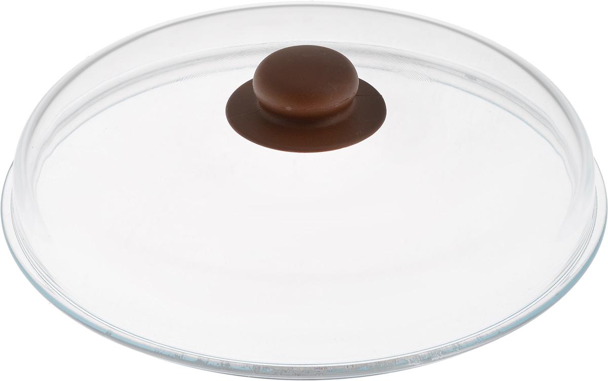 Крышка NaturePan, высокая, цвет: прозрачный, коричневый. Диаметр 26 см391602Крышка NaturePan изготовлена из термостойкого и экологически чистого стекла с пластиковой ручкой. Изделие имеет высокую конструкцию, оно удобно в использовании и позволяет контролировать процесс приготовления пищи.Можно мыть в посудомоечной машине. Диаметр крышки: 26 см.Диаметр ручки: 4,5 см.Высота ручки: 2,5 см.Высота крышки (с учетом ручки): 8 см.