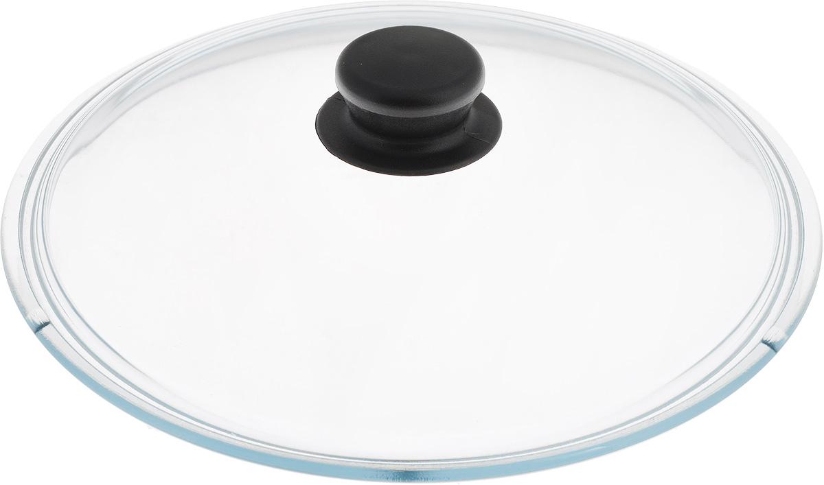 Крышка NaturePan, цвет: черный, прозрачный. Диаметр 26 смЛ4880Крышка NaturePan изготовлена из термостойкого и экологически чистого стекла с пластиковой ручкой. Изделие удобно в использовании и позволяет контролировать процесс приготовления пищи.Можно мыть в посудомоечной машине. Диаметр крышки: 26 см.Диаметр ручки: 4,5 см.Высота ручки: 2,5 см.