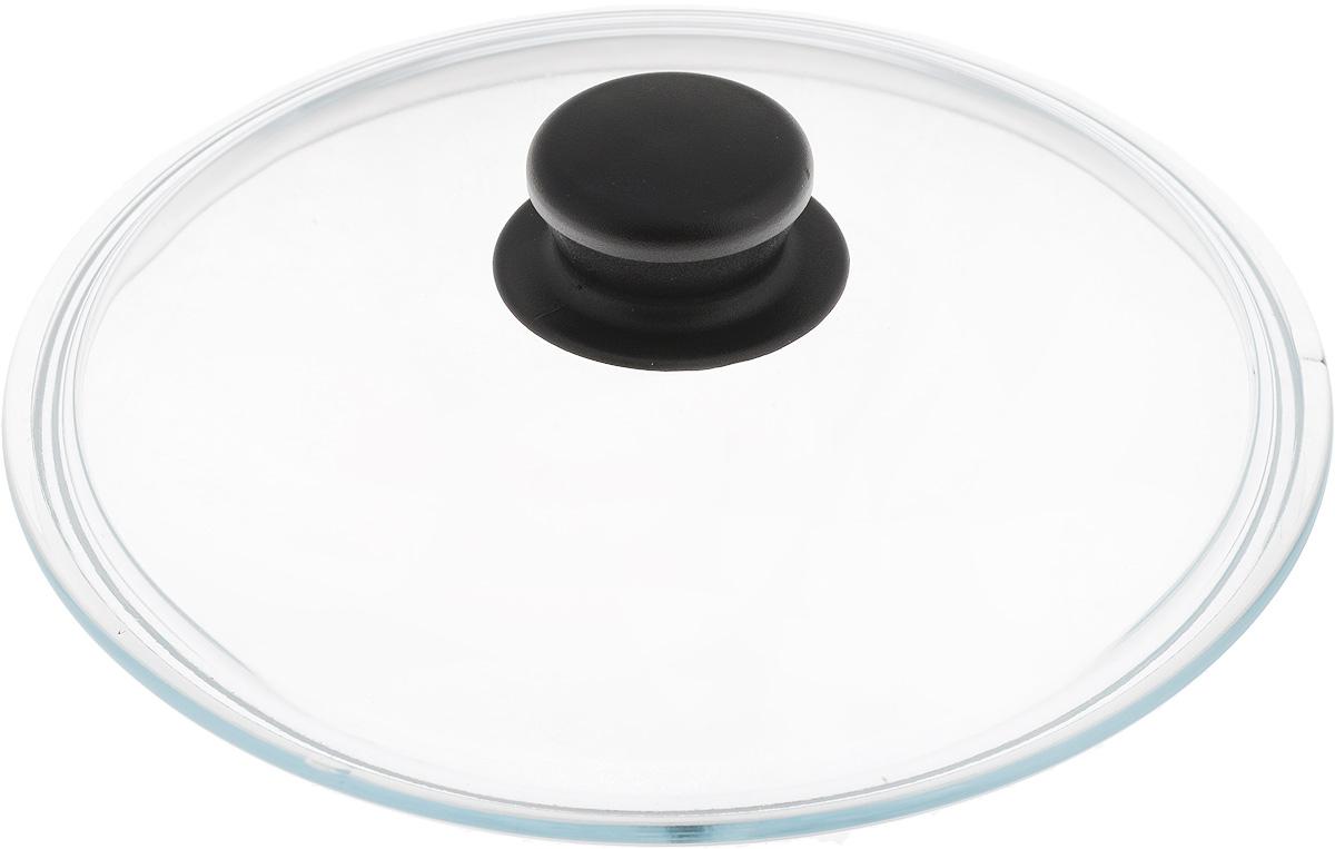 Крышка NaturePan, цвет: черный, прозрачный. Диаметр 22 смFS-91909Крышка NaturePan изготовлена из термостойкого и экологически чистого стекла с пластиковой ручкой. Изделие удобно в использовании и позволяет контролировать процесс приготовления пищи.Можно мыть в посудомоечной машине. Диаметр крышки: 22 см.Диаметр ручки: 4,5 см.Высота ручки: 2,5 см.