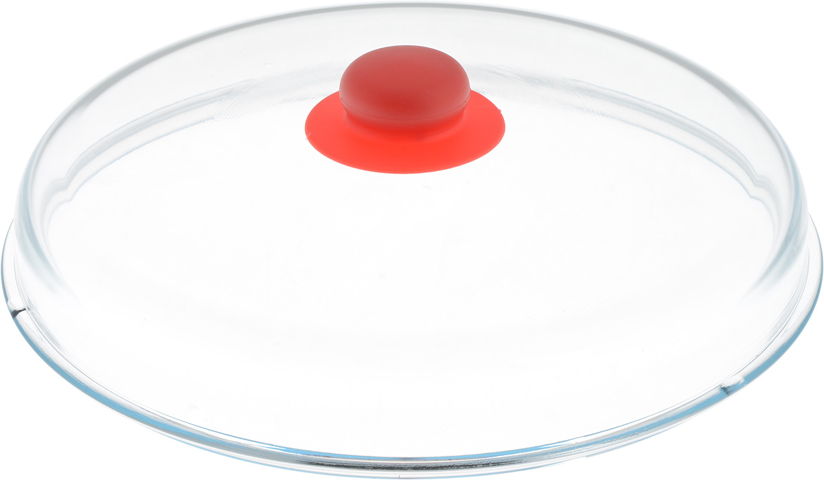 Крышка NaturePan, высокая, цвет: прозрачный, красный. Диаметр 28 см391602Крышка NaturePan изготовлена из термостойкого и экологически чистого стекла с пластиковой ручкой. Изделие имеет высокую конструкцию, оно удобно в использовании и позволяет контролировать процесс приготовления пищи.Можно мыть в посудомоечной машине. Диаметр крышки: 28 см.Диаметр ручки: 4,5 см.Высота ручки: 2,5 см.Высота крышки (с учетом ручки): 8 см.
