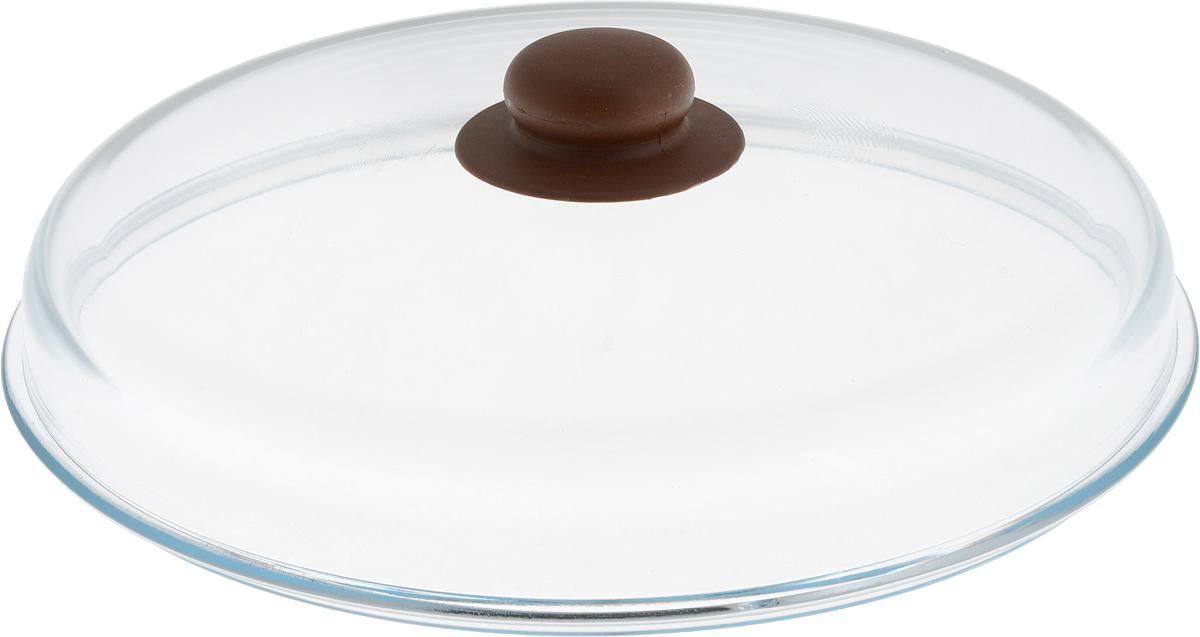 Крышка NaturePan, высокая, цвет: прозрачный, коричневый. Диаметр 28 смЛ4877Крышка NaturePan изготовлена из термостойкого и экологически чистого стекла с пластиковой ручкой. Изделие имеет высокую конструкцию, оно удобно в использовании и позволяет контролировать процесс приготовления пищи.Можно мыть в посудомоечной машине. Диаметр крышки: 28 см.Диаметр ручки: 4,5 см.Высота ручки: 2,5 см.Высота крышки (с учетом ручки): 8 см.