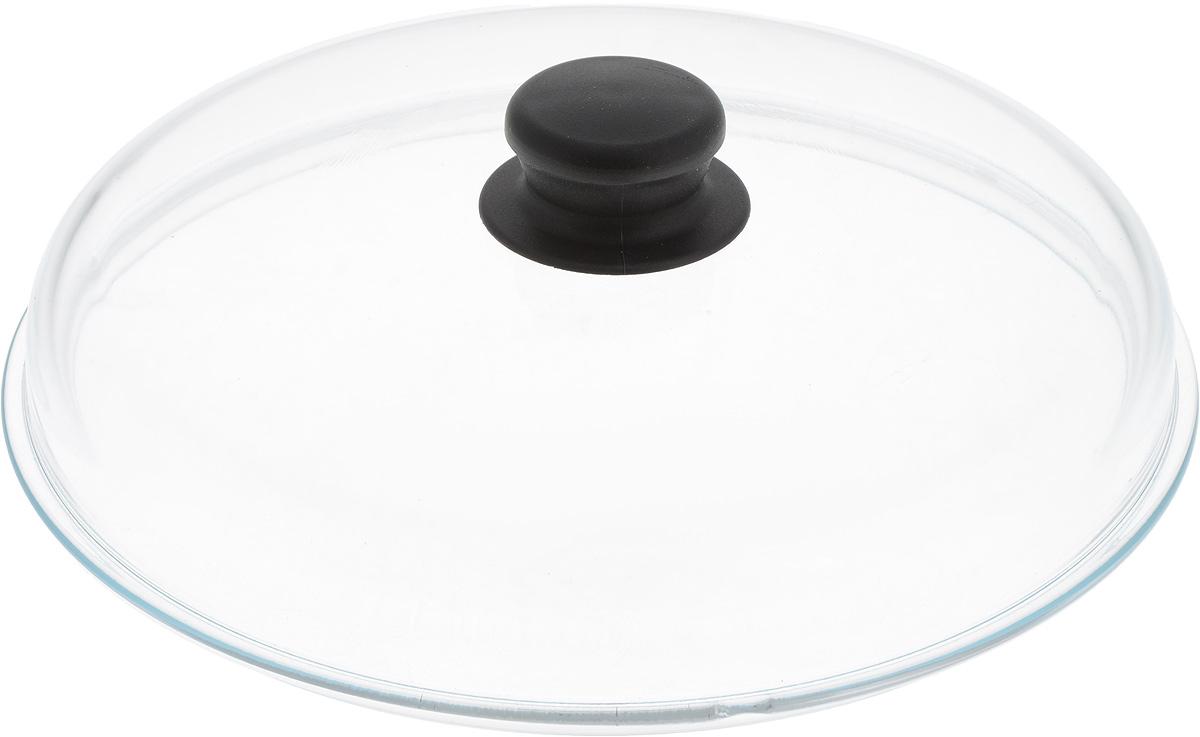 Крышка NaturePan, высокая, цвет: прозрачный, черный. Диаметр 26 см. Л3075115510Крышка NaturePan изготовлена из термостойкого и экологически чистого стекла с пластиковой ручкой. Изделие имеет высокую конструкцию, оно удобно в использовании и позволяет контролировать процесс приготовления пищи.Можно мыть в посудомоечной машине. Диаметр крышки: 26 см.Диаметр ручки: 4,5 см.Высота ручки: 2,5 см.Высота крышки (с учетом ручки): 8 см.