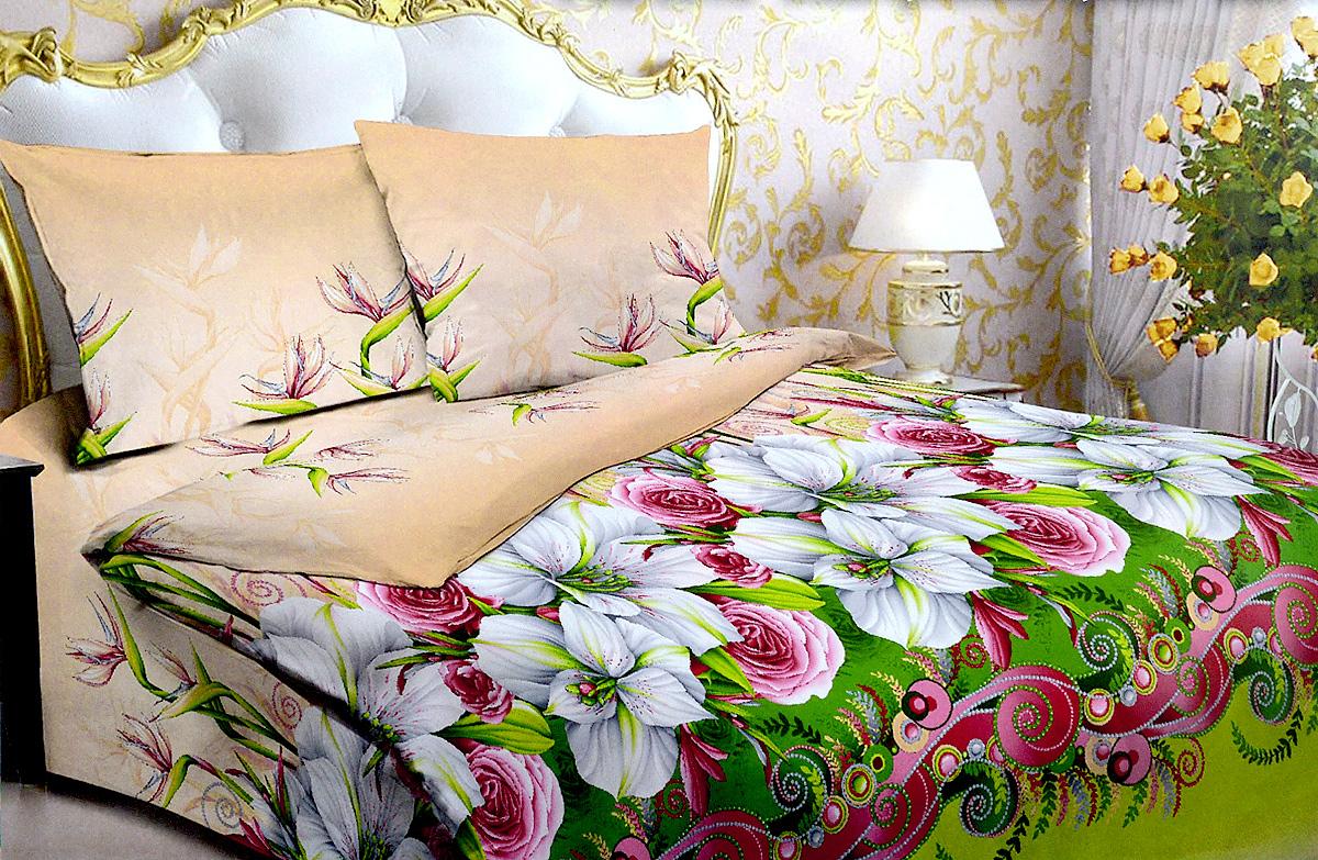 Комплект белья МарТекс Жемчужина, 1,5-спальный, наволочки 70х70U210DFКомплект постельного белья МарТекс Жемчужина состоит из пододеяльника, простыни и двух наволочек. Постельное белье оформлено оригинальным ярким рисунком и имеет изысканный внешний вид.Комплект изготовлен из качественной хлопчатобумажной бязи. Поверхность материи - ровная и матовая на вид, одинаковая с обеих сторон. Ткань экологична, гипоаллергенная, износостойкая. Это отличный материал для постельного белья.