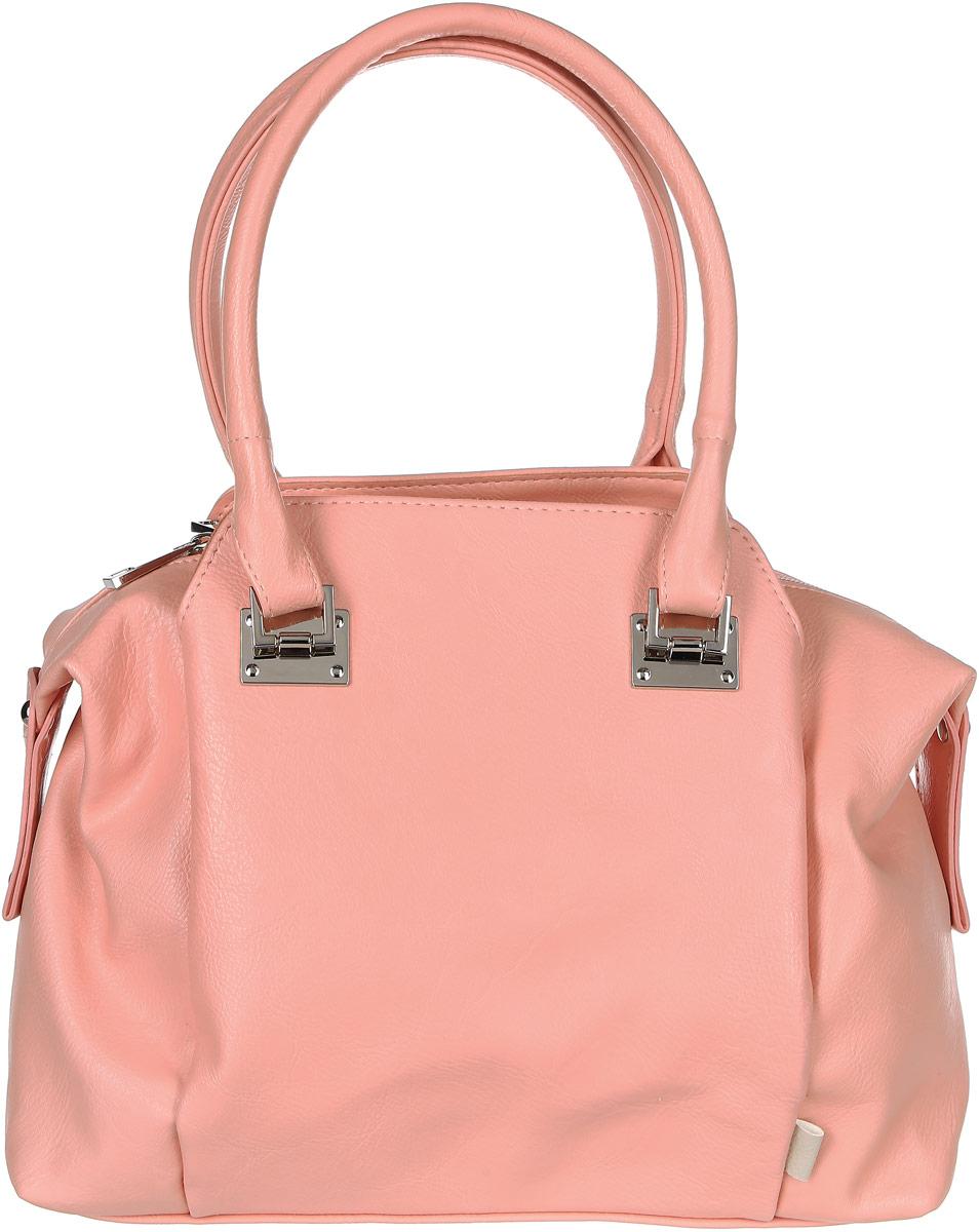 Сумка женская Медведково, цвет: розовый. 17с3334-к14747998-101Красивая женская сумка Медведково исполнена из экокожи высокого качества. Имеет одно вместительное отделение на молнии и два глубоких кармана на магнитных кнопках по бокам от него. Так же в отделении присутствуют два накладных кармашка под сотовый телефон или для мелочей и один прорезной карман на застежке-молнии. Снаружи, на задней стенке сумки, так же присутствует прорезной карман на молнии для быстрого доступа к часто используемым вещам. Сумка обладает двумя удобными для переноски ручками.