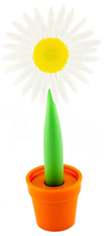 Эврика Ручка шариковая Цветок Астра на подставке цвет белыйAGP1001В скучной офисной обстановке иногда так не хватает чего-то солнечного, живого, веселого. Гибкая удобная ручка-цветок с подставкой в форме кашпо внесет недостающие нотки непринужденности и весеннего настроения в канцелярские будни.