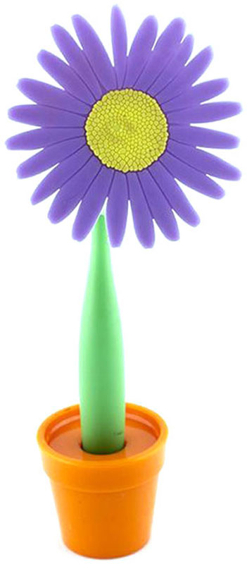 Эврика Ручка шариковая Цветок Астра на подставке цвет фиолетовый0703415В скучной офисной обстановке иногда так не хватает чего-то солнечного, живого, веселого. Гибкая удобная ручка-цветок с подставкой в форме кашпо внесет недостающие нотки непринужденности и весеннего настроения в канцелярские будни.