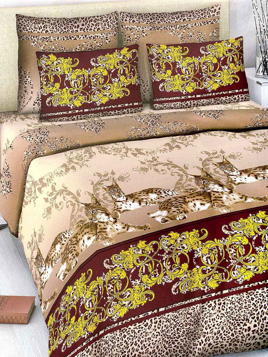 Комплект белья МарТекс, 2-спальный, наволочки 70х70, цвет: коричневый, каштановыйCLP446Комплект постельного белья МарТекс состоит из пододеяльника, простыни и двух наволочек. Постельное белье оформлено оригинальным ярким рисунком и имеет изысканный внешний вид.Комплект изготовлен из качественной хлопчатобумажной бязи. Поверхность материи - ровная и матовая на вид, одинаковая с обеих сторон. Ткань экологична, гипоаллергенна, износостойка. Это отличный материал для постельного белья.