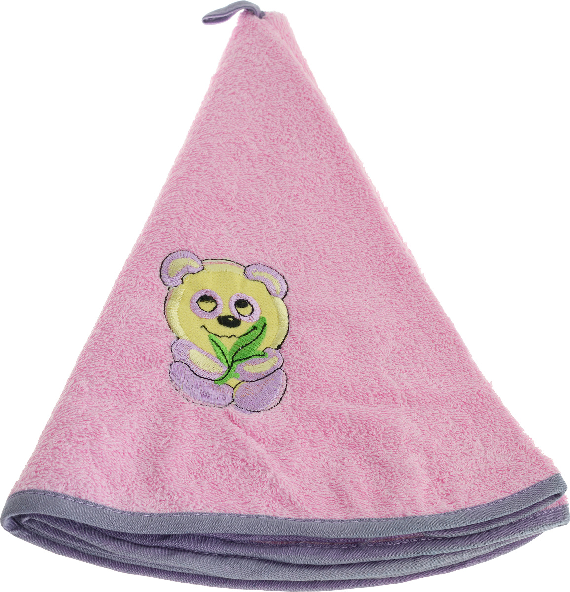 Полотенце кухонное Soavita, цвет: розовый, фиолетовый, диаметр 70 см полотенце кухонное soavita цвет коралловый диаметр 65 см 48800