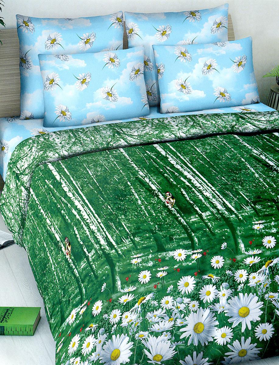 Комплект белья МарТекс, евро, наволочки 70х70, цвет: зеленый, голубой, белыйCLP446Комплект постельного белья МарТекс состоит из пододеяльника, простыни и двух наволочек. Постельное белье оформлено оригинальным ярким рисунком и имеет изысканный внешний вид.Комплект изготовлен из качественной хлопчатобумажной бязи. Поверхность материи - ровная и матовая на вид, одинаковая с обеих сторон. Ткань экологична, гипоаллергенная, износостойкая. Это отличный материал для постельного белья.Приобретая комплект постельного белья МарТекс, вы можете быть уверенны в том, что покупка доставит вам и вашим близким удовольствие и подарит максимальный комфорт.