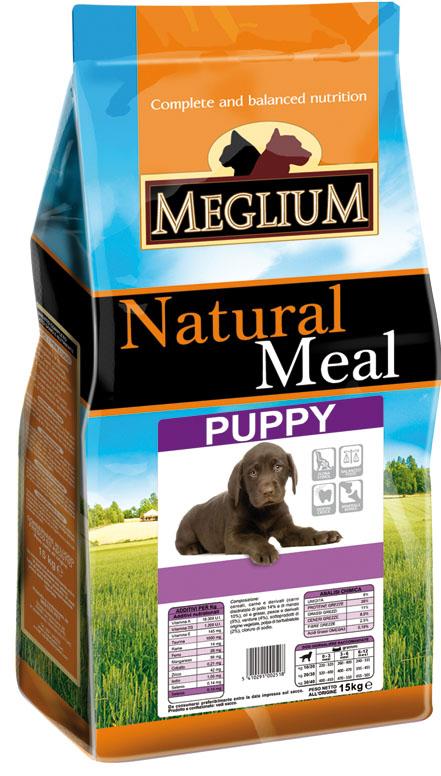 Корм сухой Meglium для щенков, 15 кг0120710Состав: дегидрированное мясо (32%, из которого куриного мяса 14% и говядины 10%), кукуруза, пшеница, куриный жир, рыбная мука, сушеная мякоть свеклы (2%), дрожжи, минеральные вещества.Пищевые добавки на кг: 3a672a Витамин A 13500 UI, Витамин D3 950 UI, 3a700 Витамин E 115 мг, E4 пентагидрат сульфата меди 47 мг, E1 карбонат железа 50 мг, E5 оксид марганца 62 мг, E6 моногидрат сульфата цинка 148 мг, E2 йодистый калий 1,2 мг, E8 селенит натрия 0,26 мг.Аналитические компоненты: влага 8%, сырой белок 28%, сырые масла и жиры 16%, сырая зола 8,5%, сырая клетчатка 2,7%.Энергетическая ценность: 3800 кКал/кг.