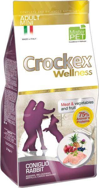 Корм сухой Crockex Wellness для собак мелких пород, с кроликом и рисом, 2 кг55863Этот полноценный рацион, дополненный функциональными ингредиентами, поддержит здоровье собаки. Сердцевина ананаса способствует правильному функционированию пищеварительной системы, гранат и малина являются превосходными источниками витамина С и богаты полифенолами, антиоксидантами и натуральными укрепляющими веществами с антивозрастным эффектом, которые служат для борьбы со свободными радикалами. Расторопша- лекарственное растение, содержащее силимарин и силибинин, вещества, известные своими противовоспалительными свойствами и эффективно защищающие печень. Пребиотики FOS и MOS помогают модулировать кишечную флору, улучшая таким образом усвоение питательных веществ. Использование риса в качестве первого источника углеводов и свежего мяса кролика (15%) обеспечивает высокую перевариваемость и отличную аппетитность рациона.Состав: обезвоженное мясо цыпленка (19%), рис (18%), кукуруза, свежее мясо кролика (15%), кукурузная мука, обезвоженное мясо кролика (12%), цыплячий жир, льняное семя (2%), высушенная мякоть свеклы, пивные дрожжи, обезвоженные морские водоросли (0,24%), хлорид натрия, экстракт дрожжей (MOS 0,16%), фруктоолигосахариды (FOS 0,1%), экстракт юкки (0,0265%), расторопша (Silybum marianum L.) (0,02%), обезвоженная сердцевина ананаса (Ananas sativus L.) (0,02%), обезвоженный гранат (Punica granatum) (0,02%), обезвоженная малина (Rubus idaeus L.) (0,0006%).Добавки на 1 кг продукта - Пищевые добавки: Витамин A 17500 МЕ, Витамин D3 1200 МЕ, Витамин E 145 мг, E4 Сульфат меди пентагидрат47 мг, E1 Карбонат железа 76 мг, E5 Оксид марганца 92 мг, E6 Сульфат цинка моногидрат 192 мг, E2 Йодистый калий 4,6 мг, E8 Селенит натрия15,2 мг.Аналитический состав: влага 8%, сырой протеин26%, сырые масла и жиры 16%, сырая зола 6,3%,сырые волокна 2,1%, кальций 1,25%, фосфор 0,9%.Товар сертифицирован.