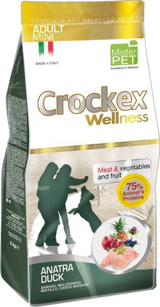 Корм сухой Crockex Wellness для собак мелких пород, с уткой и рисом, 2 кг0120710Этот полноценный рацион, дополненный функциональными ингредиентами, поддержит здоровье собаки. Сердцевина ананаса способствует правильному функционированию пищеварительной системы, гранат и малина являются превосходными источниками витамина С и богаты полифенолами, антиоксидантами и натуральными укрепляющими веществами с антивозрастным эффектом, которые служат для борьбы со свободными радикалами. Расторопша- лекарственное растение, содержащее силимарин и силибинин, вещества, известные своими противовоспалительными свойствами и эффективно защищающие печень. Пребиотики FOS и MOS помогают модулировать кишечную флору, улучшая таким образом усвоение питательных веществ. Использование риса в качестве первого источника углеводов и свежего мяса утки (15%) обеспечивает высокую перевариваемость и отличную аппетитность рациона.Состав: обезвоженное мясо цыпленка (19%), рис (19%), кукуруза, свежее мясо утки (15%), обезвоженное мясо утки (12 %), кукурузная мука, цыплячий жир, льняное семя (2%), высушенная мякоть свеклы, пивные дрожжи, обезвоженные морские водоросли (0,24%), хлорид натрия, экстракт дрожжей (MOS 0,16%), фруктоолигосахариды (FOS 0,1%), экстракт юкки (0,0265%), расторопша (Silybum marianum L.) (0,02%), обезвоженная сердцевина ананаса (Ananas sativus L.) (0,02%), обезвоженный гранат (Punica granatum) (0,02%), обезвоженная малина (Rubus idaeus L.) (0,0006%).Добавки на 1 кг продукта - Пищевые добавки: Витамин A 17500 МЕ, Витамин D3 1200 МЕ, Витамин E 145 мг, E4 Сульфат меди пентагидрат47 мг, E1 Карбонат железа 76 мг, E5 Оксид марганца 92 мг, E6 Сульфат цинка моногидрат 192 мг, E2 Йодистый калий 4,6 мг, E8 Селенит натрия15,2 мг.Аналитический состав: влага 8%, сырой протеин 26%, сырые масла и жиры 16%, сырая зола 6,3%,сырые волокна 2,1%, кальций 1,2%, фосфор 0,9%.Товар сертифицирован.