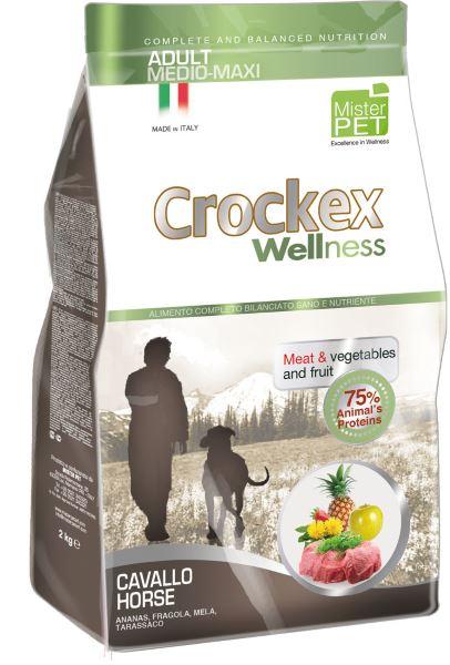 Корм сухой Crockex Wellness для собак средних и крупных пород, с кониной и рисом, 3 кг0120710Этот полноценный рацион, дополненный функциональными ингредиентами, поддержит здоровье собаки. Сердцевина ананаса и яблоко способствуют правильному функционированию пищеварительной системы, а клубника является натуральным антиоксидантом с антивозрастным эффектом и служит для борьбы со свободными радикалами. Одуванчик известен своими очищающими свойствами и оказывает благотворное воздействие на печень. Пребиотики FOS и MOS помогают модулировать кишечную флору, улучшая таким образом усвоение питательных веществ. Использование риса в качестве первого источника углеводов и свежей конины (15%) обеспечивает высокую перевариваемость и отличную аппетитность рациона.Состав: рис (20%), свежая конина (15%), обезвоженное мясо цыпленка (13%), кукурузная мука, кукуруза, обезвоженная свинина, картофель (8%), очищенный от оболочки зеленый горошек, льняное семя (2%), высушенная мякоть свеклы, пивные дрожжи, обезвоженные морские водоросли (0,24%), хлорид натрия, экстракт дрожжей (MOS 0,16%), фруктоолигосахариды (FOS 0,1%), экстракт юкки (0,0265%), порошок из корней одуванчика (Taraxacum officinale W.) (0,02%), обезвоженное яблоко (Malus pumila) (0,02%), обезвоженная сердцевина ананаса (Ananas sativus L.) (0,02%), обезвоженная клубника (Fragaria x ananassa) (0,0006%).Добавки на 1 кг продукта - Пищевые добавки: Витамин A 17500 МЕ, Витамин D3 1200 МЕ, Витамин E 145 мг, E4 Сульфат меди пентагидрат47 мг, E1 Карбонат железа 76 мг, E5 Оксид марганца 92 мг, E6 Сульфат цинка моногидрат 192 мг, E2 Йодистый калий 4,6 мг, E8 Селенит натрия15,2 мг.Аналитический состав: влага 8%, сырой протеин25%, сырые масла и жиры 15%, сырая зола 5,9%,сырые волокна 2,1%, кальций 1,2%, фосфор 0,9%.Товар сертифицирован.