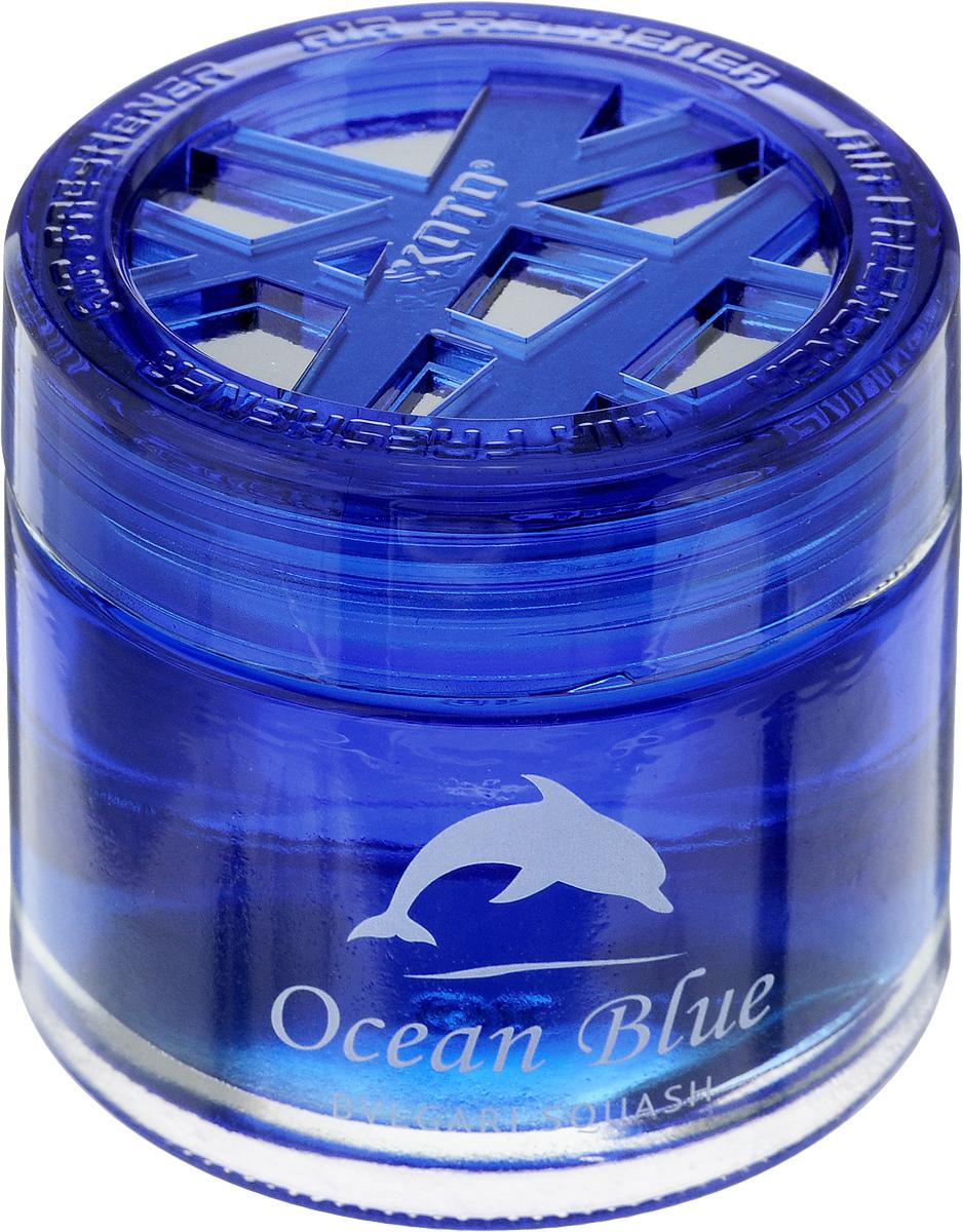 Ароматизатор автомобильный Koto Ocean Blue, гелевый, Bvlari Squash, 65 млRC-100BPCАвтомобильный ароматизатор Koto Ocean Blue эффективно устраняет неприятные запахи и придает легкий приятный аромат. Сочетание формулы геля с парфюмами наилучшего качества обеспечивает устойчивый запах. Кроме того, ароматизатор обладает элегантным дизайном, поэтому будет гармонично смотреться в салоне любого автомобиля. Благодаря удобной конструкции, его можно установить в любое место, например, на панель, под сиденье или в двери. Крепится ароматизатор с помощью двусторонней наклейки (входит в комплект). Срок эффективного действия - до 90 дней. Его можно использовать не только в автомобиле, но и в домашних условиях.Объем: 65 мл.