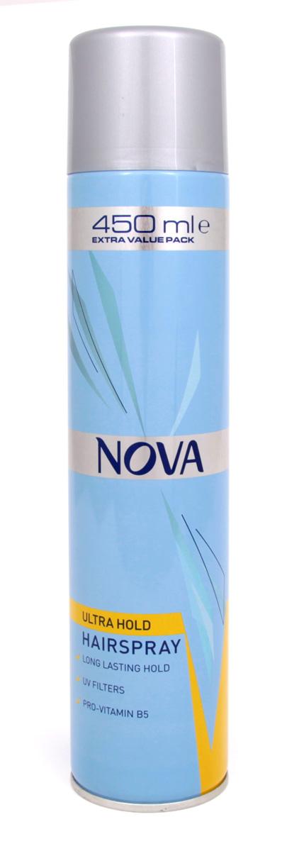 Лак для волос Nova сверхсильной фиксации 450 мл (желтый)MP59.4DСовременные компоненты,входящие в состав лака с провитомином B5,обеспечивают хорошую фиксацию и блеск без видимых следов утяжеления и склеивания волос.Лак фиксирует самые сложные формы и одновременно способствует восстановлению и укреплению поврежденной структуры волос.Питательные добавки придают волосам роскошный,шелковый блеск.