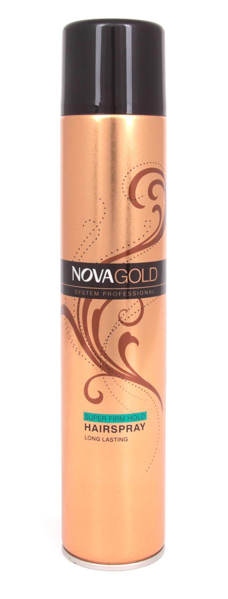 Лак суперфиксации Nova GOLD 400 мл (зеленый)1853305Лак предназначен для суперсильной фиксации без ощущения склеенности и липкости.Результат-эффект натуральности и надежнозакрепленная прическа.Входящие в состав протеины шёлка ухаживают за волосами,а UV фильтры защищают от неблагоприятного воздействия окружающей среды. Средство идеально подходит для укладки волос,поврежденных или ослабленных из-за постоянного воздействия высоких температур. Лак обладает приятным,легким ароматом,быстро сохнет и легко смывается,при этом не повреждая волосы.