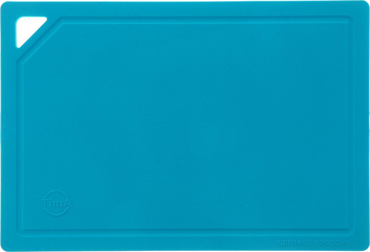 Доска разделочная TimA, гибкая, цвет: бирюзовый, 31 х 21 х 0,3 смFS-91909Гибкая разделочная доска TimA изготовлена из полиуретанаи обладает уникальными свойствами. Гигиенична. Не вступает в химическую реакцию с продуктами,не выделяет вредных веществ, предотвращает размножениеболезнетворных микроорганизмов на поверхности доски. Безопасна. Доска плотно прилегает к любой поверхностистола или столешницы, не скользит. По краю проходитнебольшой желоб, который предохраняет от растеканияжидкости. Комфортна. Удобно высыпать нарезанные продукты даже внебольшую посуду, не уронив ни единого кусочка. Подходитдля керамических ножей. Долговечна. Благодаря исключительным свойствамполиуретана, срок службы такой доски значительно выше, чемдосок из дерева и пластика. Доски выпускаются в разных цветах, что позволяетиспользовать их для определенного вида продуктов. Зеленая- для овощей, красная - для мяса, синяя - для морепродуктов,желтая - для птицы, белая - для молочных продуктов. Простота в уходе. Благодаря низкой пористости материала,доска не впитывает влагу, легко очищается от жира и грязи.Можно мыть в посудомоечной машине.