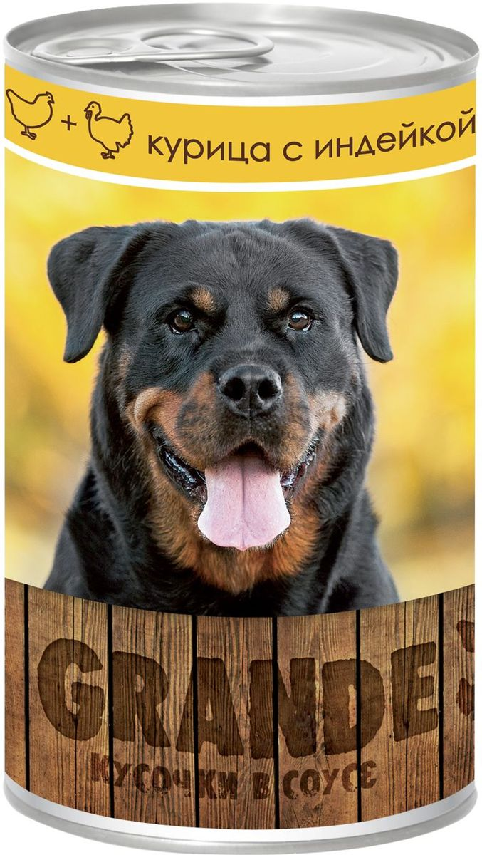 Консервы Vita ProGrande для собак, курица и индейка, 400 г0120710Полнорационный корм для взрослых собак.Аппетитные кусочки в соусе, обеспечивает животное необходимым питанием с учетом суточной потребности. Без консервантов, красителей, усилителей вкуса, ГМО.
