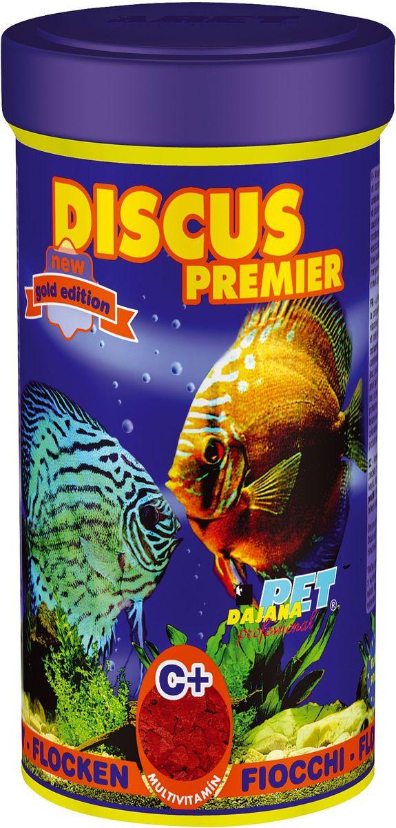Корм для рыб Dajana Discus Premier Flakes, 250 мл0120710Комплексный хлопьеобразный корм для дискусов. Обогащен мультивитаминами для здоровья и красивой окраске рыб.