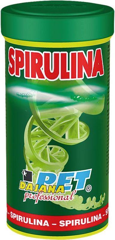 Корм для рыб Dajana Spirulina, 100 млDP014SВысококачественный корм Dajana Spirulina для всех видов аквариумных рыбок в виде сушеных микроскопических водорослей Хлорелла.Хлорелла – редкий вид водорослей, содержащий полный комплекс витаминов, минералов и питательных веществ. Корм Dajana Spirulina оказывает сильное восстанавливающее, лечебное, противовоспалительноеи болеутоляющее действие. Укрепляет иммунную систему, кровообращение, обладает антистрессовым эффектом, замедляет процесс старения, поддерживает работу печени. Водоросль Хлорелла богата высоким содержанием протеинов и бета-каротином. Она способствует репродукции, укреплению иммунитета и улучшению кровообращения у рыб, а также яркой окраске. Идеален для приготовления специальных кормов, а также для прямого употребления для мальков, молодых артемии, креветок.Подходит для всех видов аквариумных рыбок: морских и пресноводных.Состав: водоросль Спирулина.