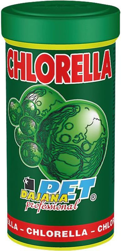 Корм для рыб Dajana Chlorella, 100 мл2984Высококачественный корм Dajana Chlorella для всех видов аквариумных рыбок в виде сушеных микроскопических водорослей Хлорелла. Хлорелла – редкий вид водорослей, содержащий полный комплекс витаминов, минералов и питательных веществ. Корм Dajana Chlorella оказывает сильное восстанавливающее, лечебное, противовоспалительноеи болеутоляющее действие.Укрепляет иммунную систему, кровообращение, обладает антистрессовым эффектом, замедляет процесс старения, поддерживает работу печени. Богат высоким содержанием протеинов и бета-каротином, оказывает уникальное восстановительное, лечебное и болеутоляющее действие. Корм Dajana Chlorella способствует репродукции, укреплению иммунитета и улучшению кровообращения у рыб, делает окраску рыб более яркой. Подходит для всех видов аквариумных рыбок. Идеален для приготовления специальных кормов и прямого употреблениядля мальков, молодых артемии, креветок.Состав: водоросль Хлорелла.