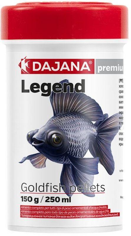 Корм для рыб Dajana Legend Goldfish Pellets, 250 млDP014AПолнорационный корм в виде круглых гранул для золотых рыбок. Корм Legend изготавливается по новой премиум-формуле, имитирующей корм рыб в дикой природе, улучшает пищеварение укрепляет иммунную систему, помогает здоровой окраске рыб, снижает биологическую нагрузку в аквариуме.Состав: рыба и рыбные продукты (сельдь, мука 5%), мука из личинок насекомых (13%), пивные дрожжи, зерновые, соевая мука, масло лосося, картофель, мука, креветочная мука, чеснок, паприка, мука люцерны, мука, спирулина, красители природного происхождения, крабов, икру.