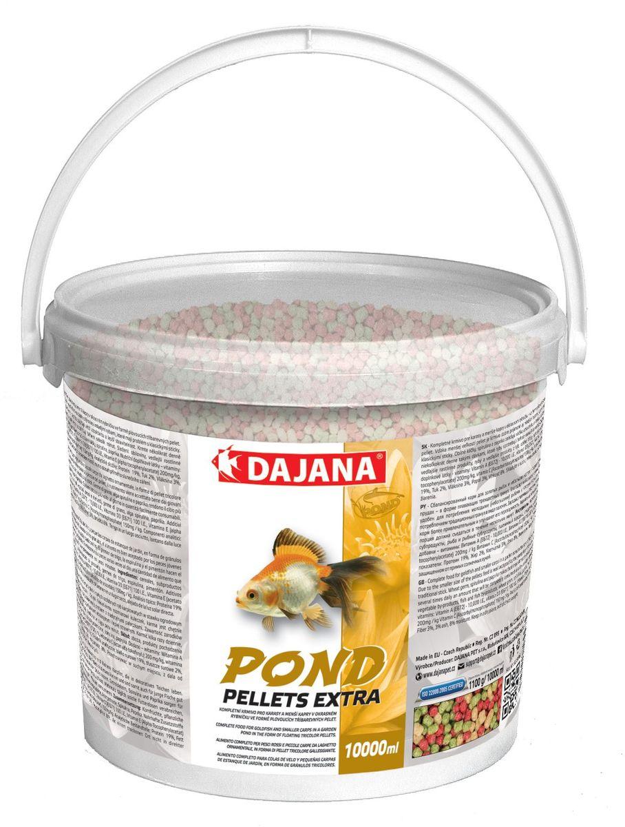 Корм для прудовых рыб Dajana Pond Pellets Extra, 5 л (550 г)74053Сбалансированный корм для декоративных карпов и золотых рыбок и небольших карпов в садовых (декоративных) прудах - в форме трёхцветных плавающих гранул. Плавающий корм, упрощающий кормление декоративных рыб.