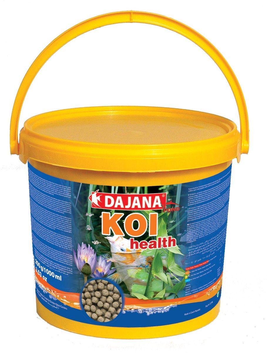 Корм для прудовых рыб Dajana Koi Health, 5 л (2,1 кг)0120710Является комплексным кормом для карповых и холодноводных рыб в виде плавающих шариков. В своем составе содержит природные иммуномодуляторы бета-глюканы повышают иммунитет рыб по отношению ко всем вирусам, бактериям или грибкам и внутренним паразитам.Содержит также большое количество важных витаминов, микроэлементов и минеральных веществ, благотворно влияющих на физическую форму рыб, тем самым, способствуя их психическому равновесию.