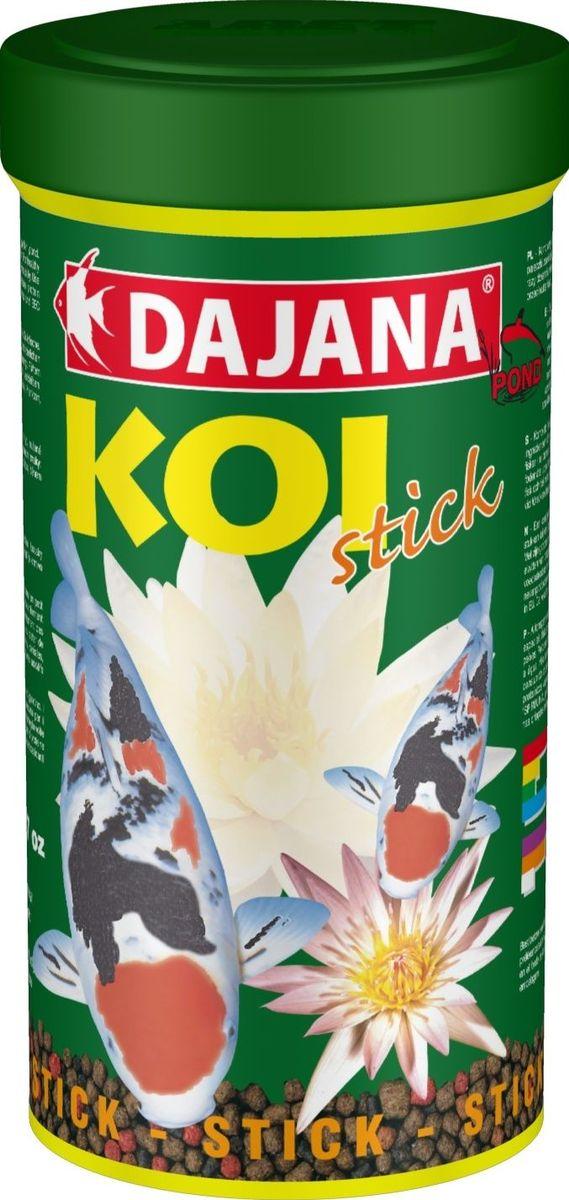 Корм для рыб прудовых Dajana Koi Stick, 1 л (450 г)0120710Комплексный корм для декоративных карасе.Специальные кусочки хорошо держатся на воде и содержат все питательные вещества необходимые для развития и роста рыб. Kормите несколько раз в день так, чтобы рыбы съели корм в течение нескольких минут.