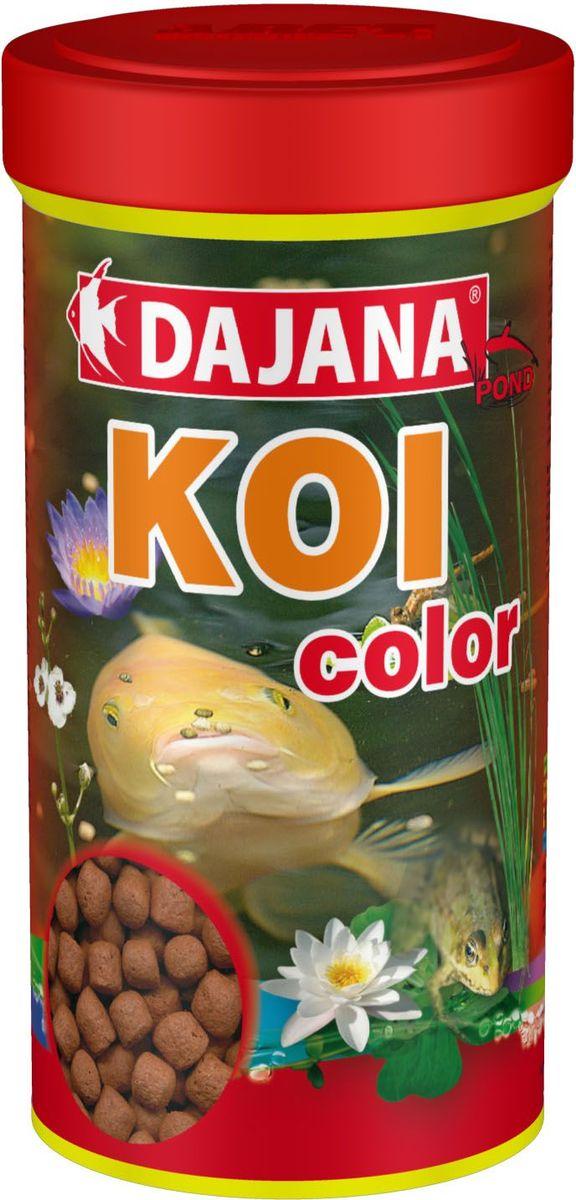 Корм для прудовых рыб Dajana Koi Stick, 1 л (450 г). DP306D12171996Является высоко протеиновым плавающим кормом для прудовых рыб и крапов KOI. Рекомендуется использовать данный корм в качестве дополнения к основному рациону. Состав корма, для производства которого используются самое качественное сырье, способствует хорошей усвояемости пищи и идеально подходит для организма рыб. Содержит большое количество важных витаминов, микроэлементов и минеральных веществ.