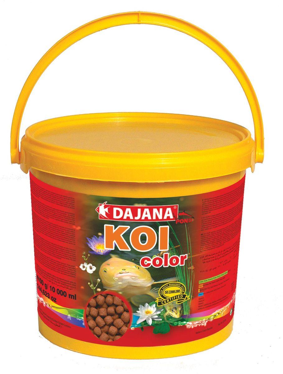 Корм для рыб прудовых Dajana Koi Color, 5 л (2 кг)0120710Является высоко протеиновым плавающим кормом для прудовых рыб и крапов KOI. Рекомендуем использовать данный корм в качестве дополнения к основному рациону. Состав корма, для производства которого используются самое качественное сырье, способствует хорошей усвояемости пищи и идеально подходит для организма рыб. Содержит большое количество важных витаминов, микроэлементов и минеральных веществ.