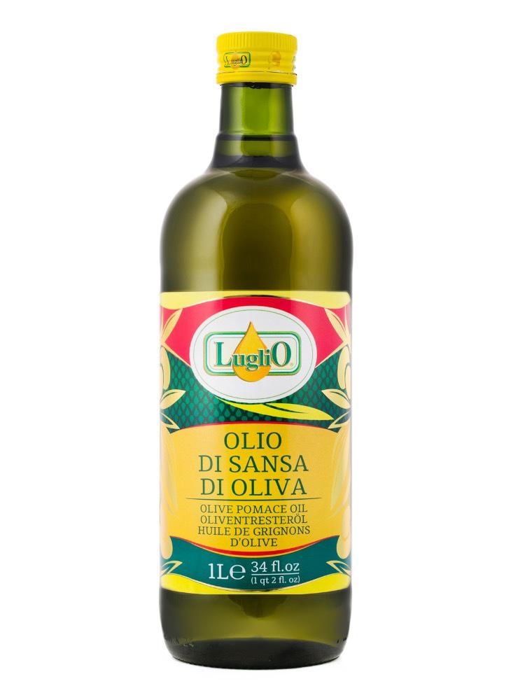 Luglio Оливковое масло Olio di sansa, 1 л3245270000559Масло для жарки Luglio - это рафинированное оливковое масло, полученное из отборных оливок лучших местных итальянских сортов.