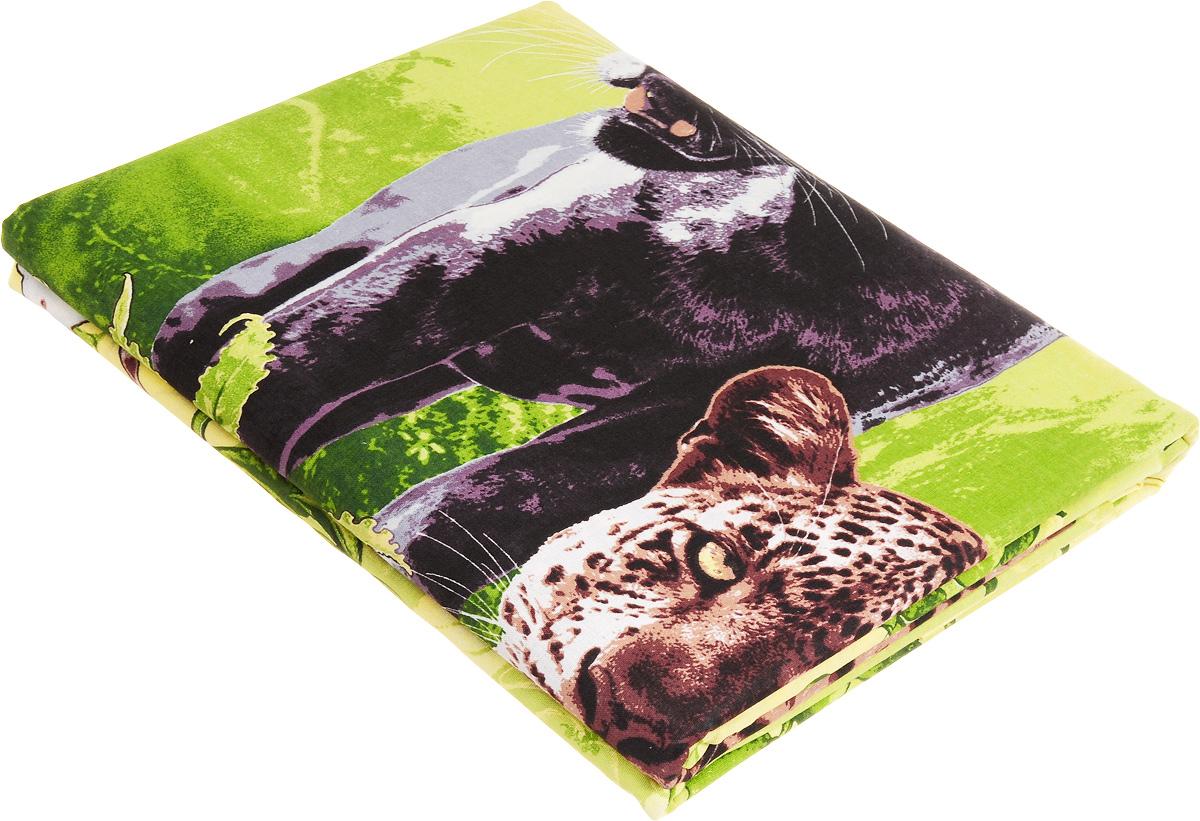 Комплект белья МарТекс Пантера, 1,5-спальный, наволочки 70х70, цвет: зеленыйSVC-300Комплект постельного белья МарТекс состоит из пододеяльника, простыни и двух наволочек и изготовлен из бязи. Постельное белье оформлено оригинальным ярким рисунком и имеет изысканный внешний вид. Бязь - вид ткани, произведенный из натурального хлопка. Бязевое белье выдерживает большое количество стирок. Благодаря натуральному хлопку, постельное белье приобретает способность пропускать воздух, давая возможность телу дышать. Приобретая комплект постельного белья МарТекс, вы можете быть уверенны в том, что покупка доставит вам и вашим близким удовольствие и подарит максимальный комфорт.