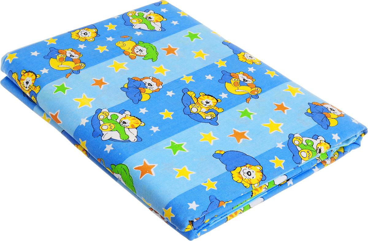 Комплект детского постельного белья МарТекс Спокойной ночи, 1,5-спальный, наволочка 70x70, цвет: синий, голубойkalyaka_white50Детский комплект постельного белья МарТекс Спокойной ночи состоит из наволочки, пододеяльника и простыни. Он изготовлен из натурального хлопка, дарящего ребенку непревзойденную мягкость. Натуральный материал не раздражает даже самую нежную и чувствительную кожу ребенка, обеспечивая ему наибольший комфорт.Приобретая комплект постельного белья МарТекс, вы можете быть уверенны в том, что покупка доставит вам и вашим близким удовольствие и подарит максимальный комфорт.