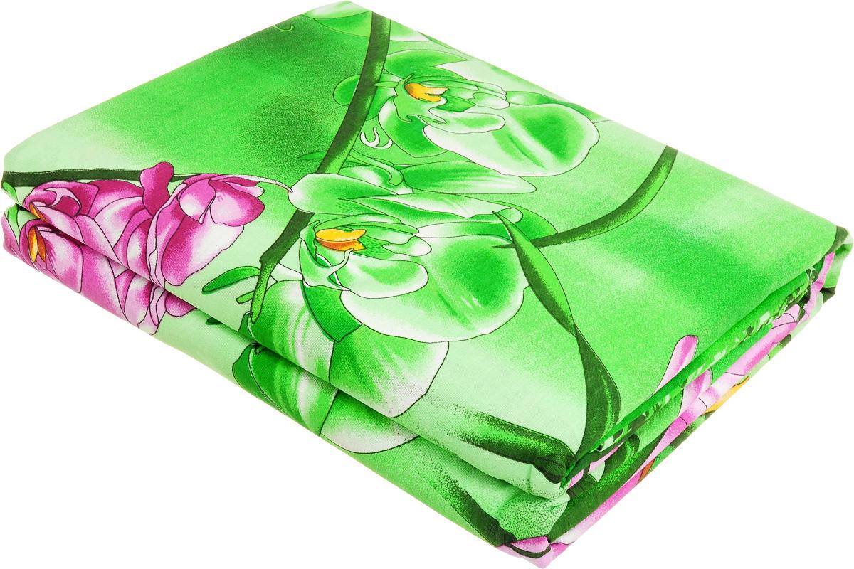 Комплект белья МарТекс Орхидеи в саду, евро, наволочки 50х70, 70х70, цвет: зеленый, розовый, красный4630003364517Комплект МарТекс Орхидеи в саду состоит из пододеяльника, простыни и четырех наволочек. Постельное белье, выполненное из бязи (100% хлопка), оформлено ярким рисунком с эффектом 3D и имеет изысканный внешний вид. Бязь - хлопчатобумажная ткань полотняного переплетения без искусственных добавок. Большое количество нитей делает эту ткань более плотной, более долговечной. Высокая плотность ткани позволяет сохранить форму изделия, его первоначальные размеры и первозданный рисунок.Приобретая комплект постельного белья МарТекс Орхидеи в саду, вы можете быть уверенны в том, что покупка доставит вам и вашим близким удовольствие и подарит максимальный комфорт.