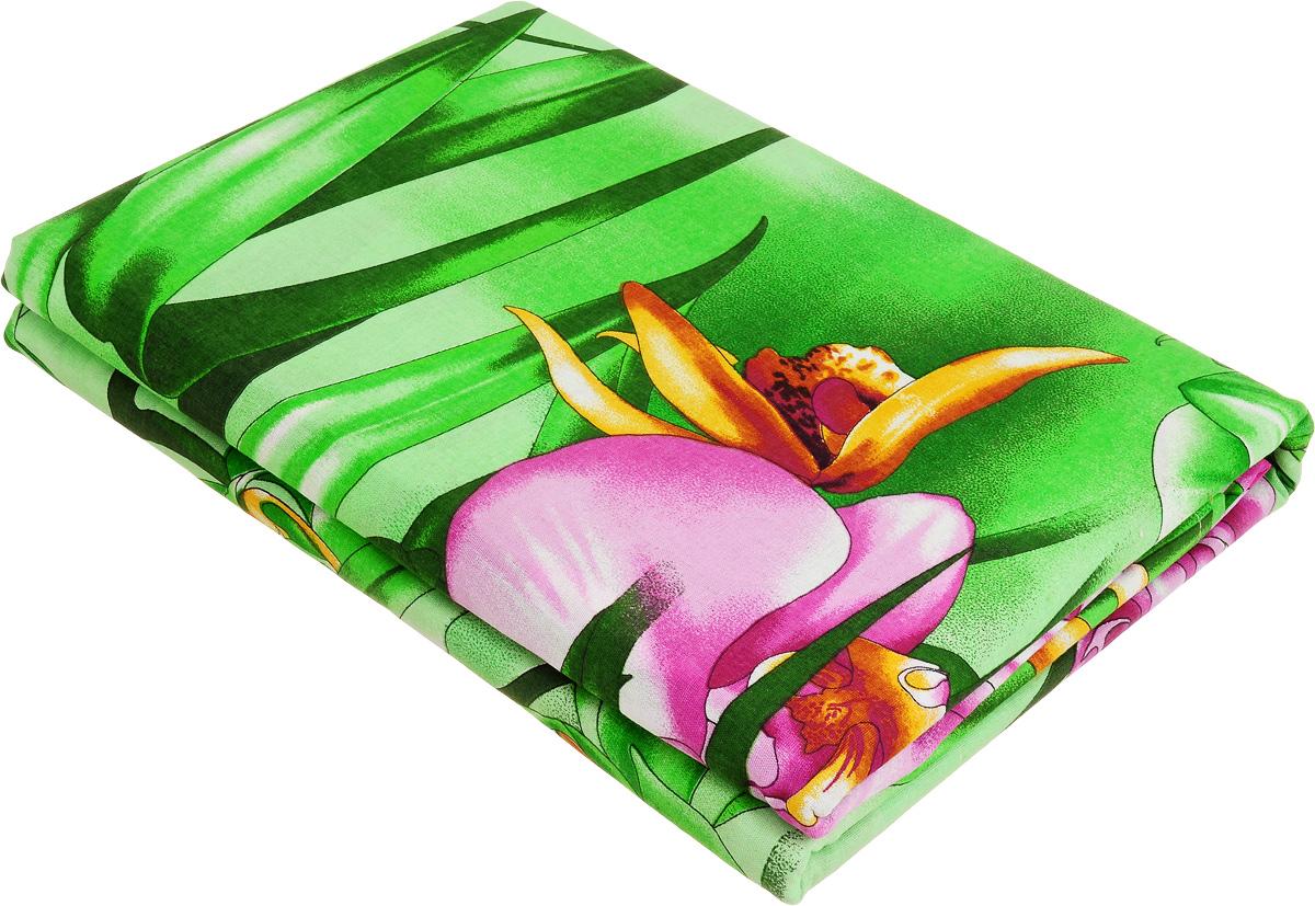 Комплект белья МарТекс Орхидеи в саду, 1,5-спальный, наволочки 70х70, цвет: зеленый, розовый, красный01-1105-1Комплект МарТекс Орхидеи в саду состоит из пододеяльника, простыни и двух наволочек. Постельное белье, выполненное из бязи (100% хлопка), оформлено ярким рисунком с эффектом 3D и имеет изысканный внешний вид. Бязь - хлопчатобумажная ткань полотняного переплетения без искусственных добавок. Большое количество нитей делает эту ткань более плотной, более долговечной. Высокая плотность ткани позволяет сохранить форму изделия, его первоначальные размеры и первозданный рисунок.Приобретая комплект постельного белья МарТекс Орхидеи в саду, вы можете быть уверенны в том, что покупка доставит вам и вашим близким удовольствие и подарит максимальный комфорт.