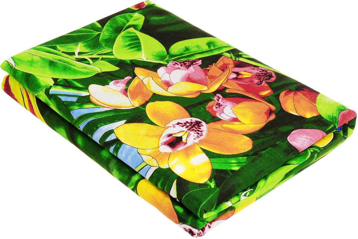 Комплект белья МарТекс Райский уголок, евро, наволочки 50х70, 70х70, цвет: зеленый, красный, желтый01-0657-3Комплект МарТекс Райский уголок состоит из пододеяльника, простыни и четырех наволочек. Постельное белье, выполненное из бязи (100% хлопка), оформлено ярким рисунком с эффектом 3D и имеет изысканный внешний вид. Бязь - хлопчатобумажная ткань полотняного переплетения без искусственных добавок. Большое количество нитей делает эту ткань более плотной, более долговечной. Высокая плотность ткани позволяет сохранить форму изделия, его первоначальные размеры и первозданный рисунок.Приобретая комплект постельного белья МарТекс Райский уголок, вы можете быть уверенны в том, что покупка доставит вам и вашим близким удовольствие и подарит максимальный комфорт.
