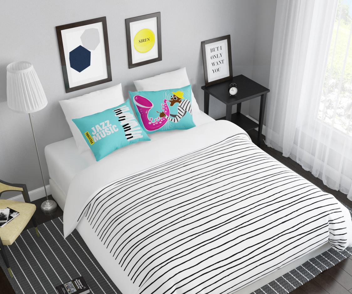 Комплект белья Сирень Джаз, 1,5-спальный, наволочки 50x70391602Комплект постельного белья Сирень состоит из простыни, пододеяльника и 2 наволочек. Комплект выполнен из современных гипоаллергенных материалов. Приятный при прикосновении сатин - гарантия здорового, спокойного сна. Ткань хорошо впитывает влагу, надолго сохраняет яркость красок. Четкий, изящный рисунок в сочетании с насыщенными красками делает комплект постельного белья неповторимой изюминкой любого интерьера. Постельное белье идеально подойдет для подарка.