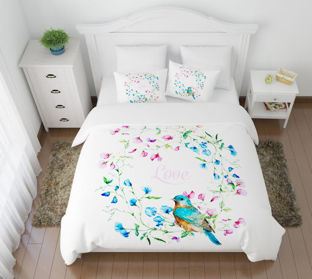 Комплект белья Сирень Аморе, 1,5-спальный, наволочки 50x70391602Комплект постельного белья Сирень состоит из простыни, пододеяльника и 2 наволочек. Комплект выполнен из современных гипоаллергенных материалов. Приятный при прикосновении сатин - гарантия здорового, спокойного сна. Ткань хорошо впитывает влагу, надолго сохраняет яркость красок. Четкий, изящный рисунок в сочетании с насыщенными красками делает комплект постельного белья неповторимой изюминкой любого интерьера. Постельное белье идеально подойдет для подарка.