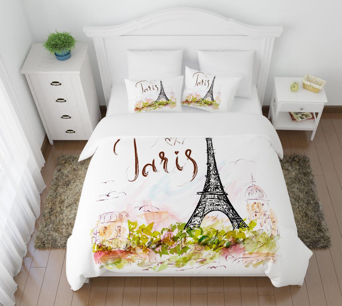 Комплект белья Сирень Открытка из Парижа, 1,5-спальный, наволочки 50x70FD 992Комплект постельного белья Сирень Открытка из Парижа состоит из простыни, пододеяльника и 2 наволочек. Комплект выполнен из современных гипоаллергенных материалов. Приятный при прикосновении сатин - гарантия здорового, спокойного сна. Ткань хорошо впитывает влагу, надолго сохраняет яркость красок. Четкий, изящный рисунок в сочетании с насыщенными красками делает комплект постельного белья неповторимой изюминкой любого интерьера. Постельное белье идеально подойдет для подарка.