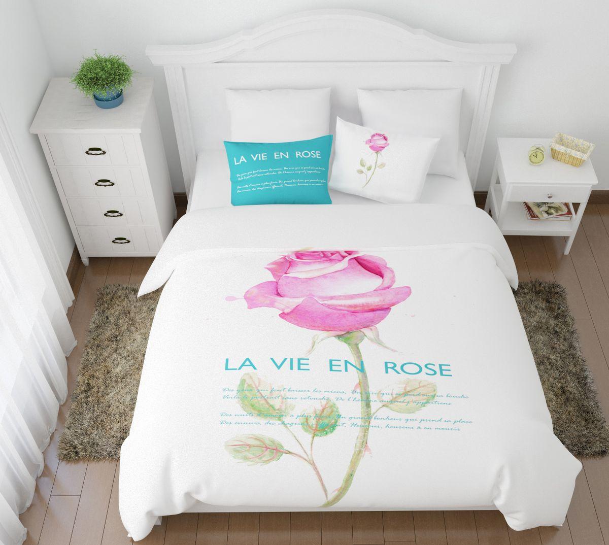Комплект белья Сирень Жизнь в розовом цвете, 1,5-спальный, наволочки 50x70391602Комплект постельного белья Сирень состоит из простыни, пододеяльника и 2 наволочек. Комплект выполнен из современных гипоаллергенных материалов. Приятный при прикосновении сатин - гарантия здорового, спокойного сна. Ткань хорошо впитывает влагу, надолго сохраняет яркость красок. Четкий, изящный рисунок в сочетании с насыщенными красками делает комплект постельного белья неповторимой изюминкой любого интерьера. Постельное белье идеально подойдет для подарка.