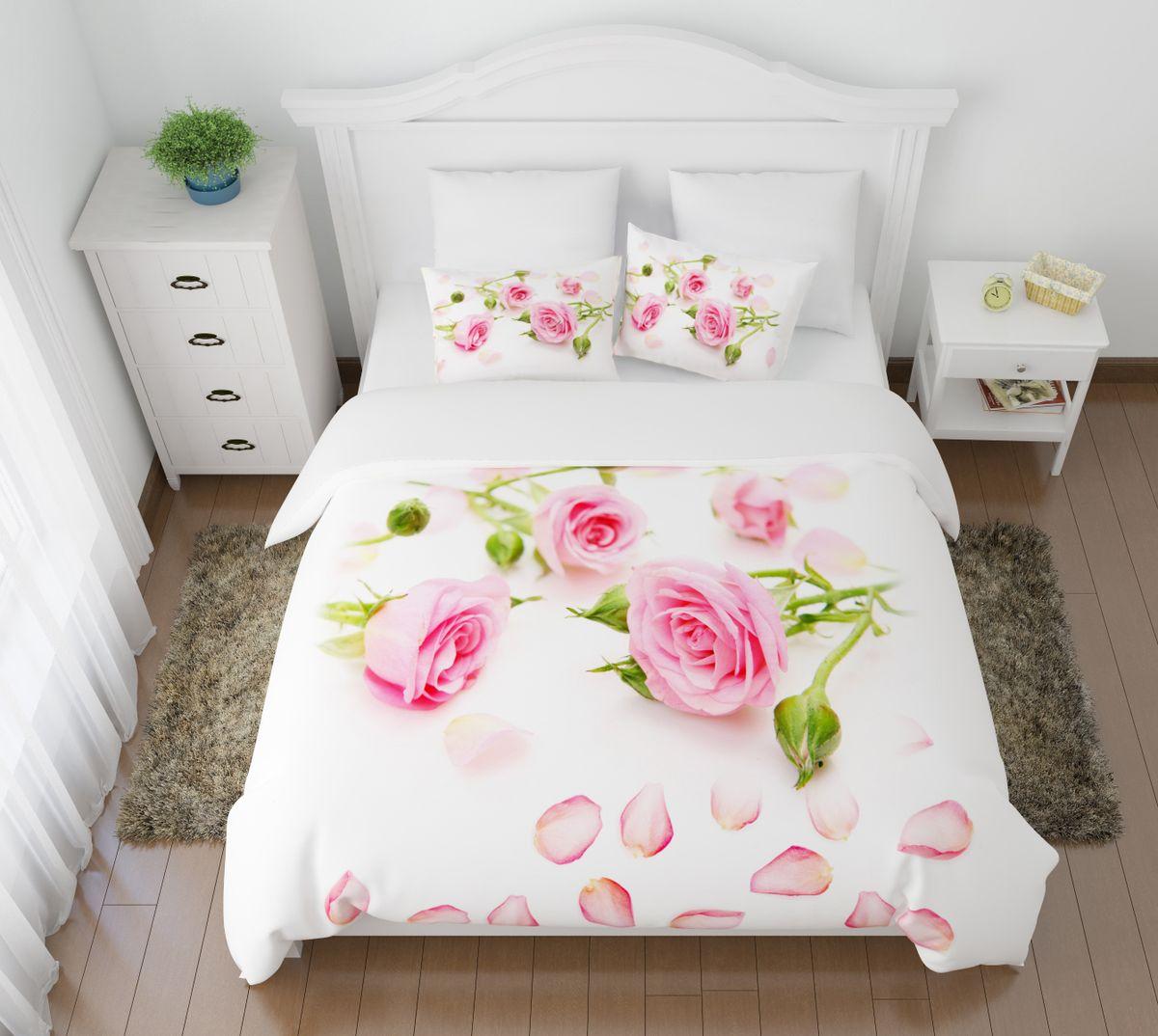Комплект белья Сирень Лепестки роз, 1,5-спальный, наволочки 50x70pva215346Комплект постельного белья Сирень выполнен из прочной и мягкой ткани. Четкий и стильный рисунок в сочетании с насыщенными красками делают комплект постельного белья неповторимой изюминкой любого интерьера.Постельное белье идеально подойдет для подарка. Идеальное соотношение смешенной ткани и гипоаллергенных красок - это гарантия здорового, спокойного сна. Ткань хорошо впитывает влагу, надолго сохраняет яркость красок.В комплект входят: простынь, пододеяльник, две наволочки. Постельное белье легко стирать при 30-40°С, гладить при 150°С, не отбеливать. Рекомендуется перед первым использованием постирать.УВАЖАЕМЫЕ КЛИЕНТЫ! Обращаем ваше внимание, что цвет простыни, пододеяльника, наволочки в комплектации может немного отличаться от представленного на фото.