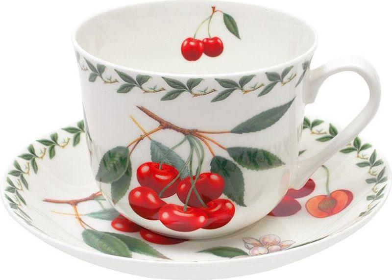 Чайная пара Maxwell & Williams Вишня, 0,48 л836427Чайная пара Maxwell & Williams  Вишня состоит из чашки и блюдца, изготовленных из высококачественного фарфора. Изделия оформлены изображением фруктов и имеют изысканный внешний вид. Такой набор прекрасно дополнит сервировку стола к чаепитию и подчеркнет ваш безупречный вкус.