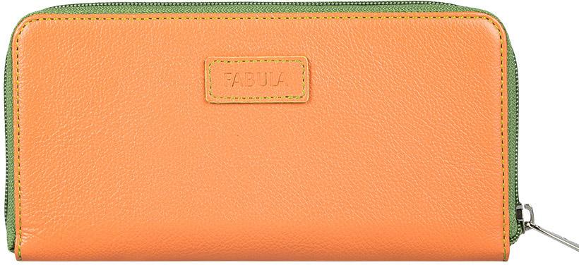 Портмоне женское Fabula Ultra, цвет: оранжевый. PJ.147.FP1-022_516Женское полнокупюрное портмоне из коллекции «Ultra» выполнено из натуральной кожи. Закрывается на молнию. Внутренний функционал: 2 отделения для купюр, 3 скрытых кармана, 8 карманов для кредитных карт. На внешней оборотной стороне отделение для мелочи на молнии.