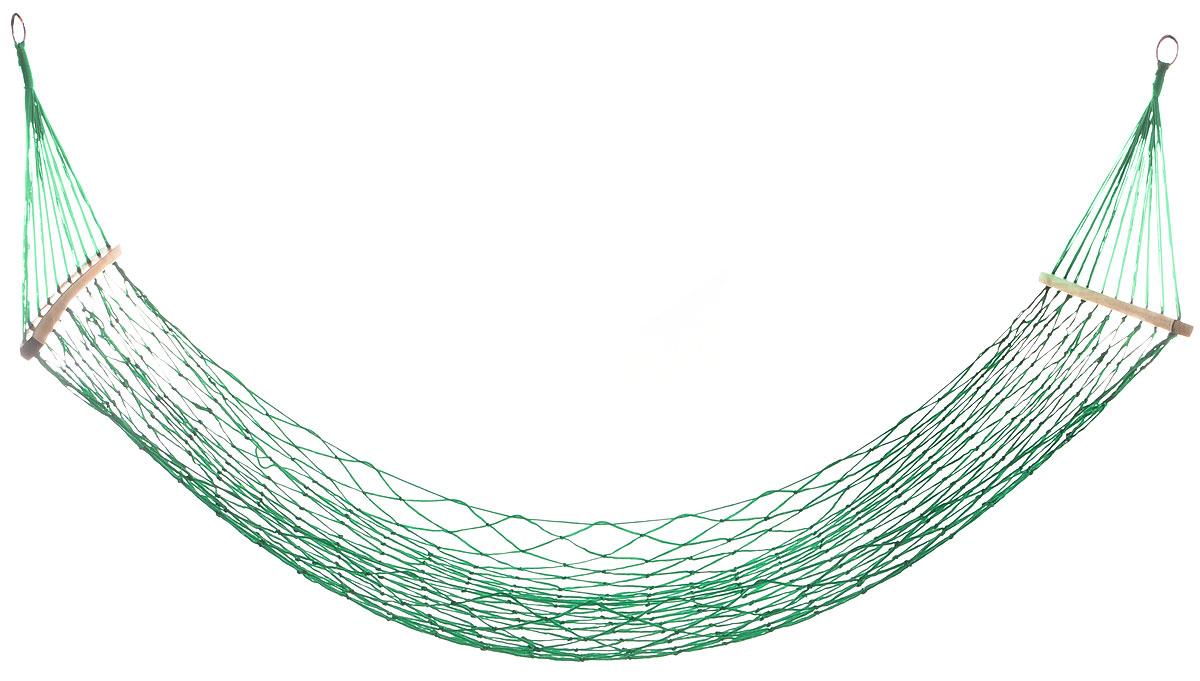 Гамак Wildman Сетка, на кольцах, цвет: зеленый, 80 х 200 см81-174_зеленыйПрочный гамак на кольцах Wildman Сетка, изготовленный из нейлона, внесет дополнительный комфорт в ваш отдых на даче, в походе или на пикнике. Изделие оснащено деревянным каркасом.Дача, лето, свежий воздух, отдых после тяжелой работы, возможность побыть наедине с природой, насладиться запахами листвы и цветов, солнечным светом, пробивающимся сквозь кроны деревьев - все эти приятные мысли и эмоции пробуждаются в нас при взгляде на один очень простой предмет - гамак.