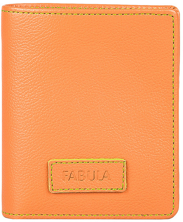 Портмоне женское Fabula Ultra, цвет: оранжевый. PJ.89.FP383549Женское компактное портмоне из коллекции «Ultra» выполнено из натуральной кожи. Закрывается на кнопку. Внутренний функционал: 2 отделения для купюр, 3 отделения для кредитных карт, 2 вертикальных кармана, отделение для мелочи.