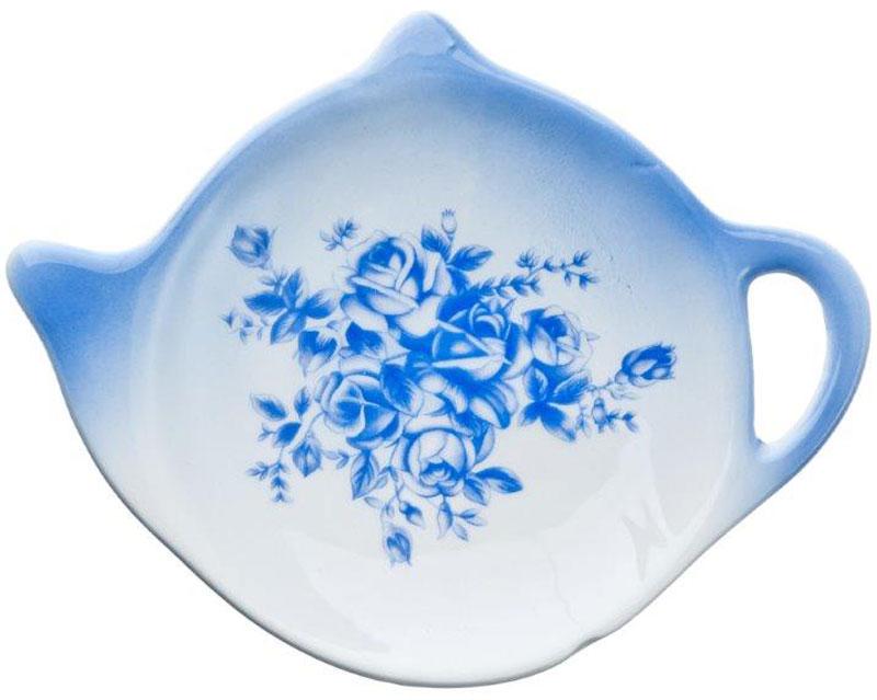 Подставка для чайных пакетиков Народные мотивыSC-FD421004Подставка для чайных пакетиков Народные мотивы, изготовленная из высококачественной керамики, порадует вас оригинальностью и дизайном. Подставка выполнена в форме чайничка и оформлена цветочным рисунком. С помощью такой подставки ваша столешница останется чистой.