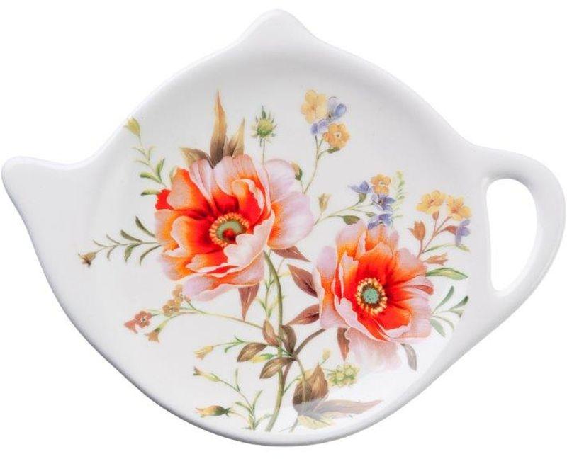 Подставка для чайных пакетиков ВеснаVT-1520(SR)Подставка для чайных пакетиков Весна, изготовленная из высококачественной керамики, порадует вас оригинальностью и дизайном. Подставка выполнена в форме чайничка и оформлена цветочным рисунком. С помощью такой подставки ваша столешница останется чистой.